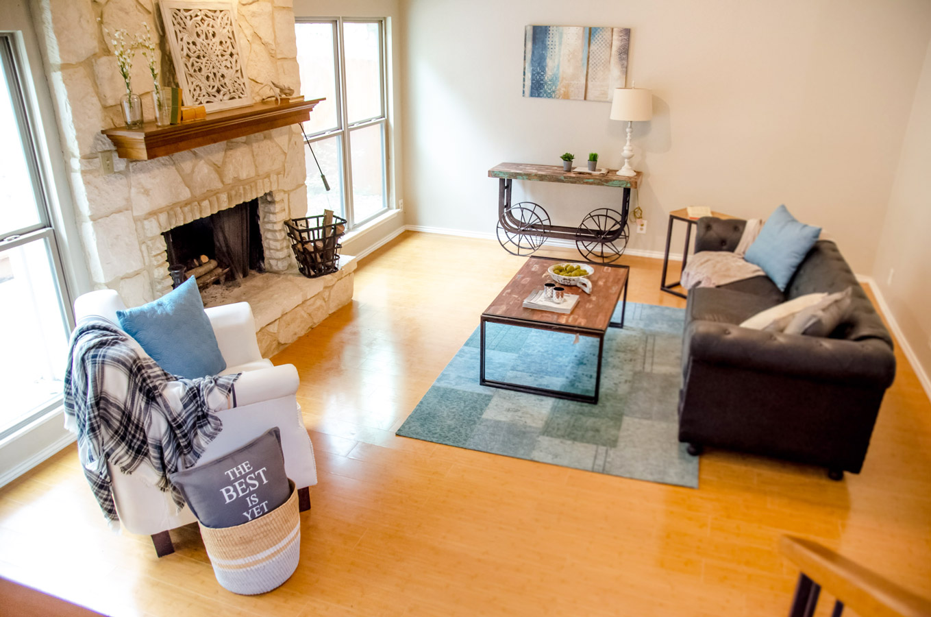 Home Staging Helotes Tx Living Room