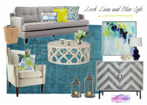 moodboard living room blue and lime noelia ünik designs